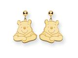 Disney Winnie the Pooh Dangle Post Earrings style: WD158Y
