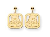 Disney Winnie the Pooh Dangle Post Earrings style: WD160GP