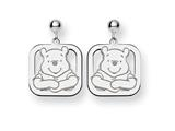 Disney Winnie the Pooh Dangle Post Earrings style: WD160W