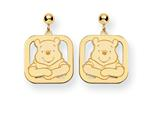 Disney Winnie the Pooh Dangle Post Earrings style: WD160Y