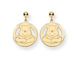Disney Winnie the Pooh Dangle Post Earrings style: WD162GP