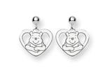 Disney Winnie the Pooh Heart Dangle Post E style: WD166W