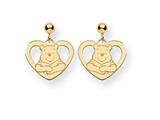 Disney Winnie the Pooh Heart Dangle Post Earrings style: WD166Y