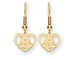 Disney Winnie the Pooh Heart Dangle Wire Earrings style: WD167Y