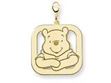 Disney Winnie the Pooh Lobster Clasp Charm style: WD191GP