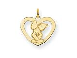 Disney Piglet Heart Charm style: WD196GP
