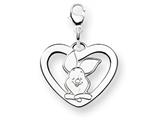 Disney Piglet Heart Lobster Clasp Charm style: WD197W