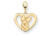 Disney Piglet Heart Lobster Clasp Charm style: WD197Y