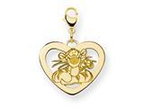 Disney Tigger Heart Lobster Clasp Charm style: WD205GP