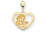 Disney Snow White Heart Lobster Clasp Charm