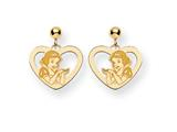 Disney Snow White Heart Dangle Post Earrings style: WD216Y