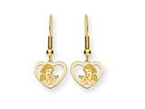 Disney Snow White Heart Dangle Wire Earrin style: WD217GP