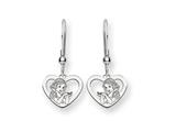 Disney Snow White Heart Dangle Wire Earri style: WD217SS