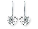 Disney Snow White Heart Dangle Wire Earrin style: WD217W