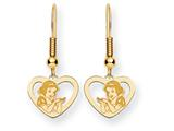 Disney Snow White Heart Dangle Wire Earrings style: WD217Y