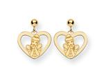 Disney Cinderella Heart Dangle Post Earrin style: WD224GP