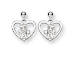Disney Cinderella Heart Dangle Post Earri style: WD224SS