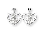 Disney Cinderella Heart Dangle Post Earrin style: WD224W
