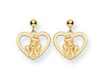 Disney Cinderella Heart Dangle Post Earrings