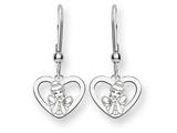 Disney Cinderella Heart Dangle Wire Earri style: WD225SS