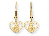 Disney Cinderella Heart Dangle Wire Earrings
