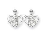 Disney Aurora Heart Dangle Post Earrings style: WD238SS