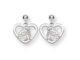 Disney Aurora Heart Dangle Post Earrings style: WD238W