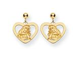 Disney Aurora Heart Dangle Post Earrings style: WD238Y
