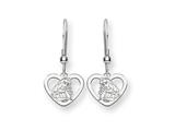 Disney Aurora Heart Dangle Wire Earrings style: WD239SS