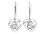 Disney Aurora Heart Dangle Wire Earrings style: WD239W