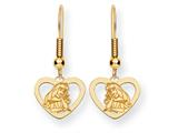 Disney Aurora Heart Dangle Wire Earrings style: WD239Y