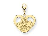 Disney Ariel Heart Lobster Clasp Charm style: WD241GP