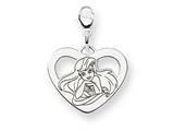 Disney Ariel Heart Lobster Clasp Charm style: WD241SS