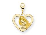 Disney Jasmine Heart Lobster Clasp Charm