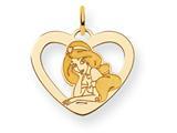 Disney Jasmine Heart Charm style: WD243Y