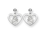 Disney Belle Heart Dangle Post Earrings style: WD244W