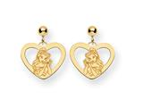 Disney Belle Heart Dangle Post Earrings style: WD244Y