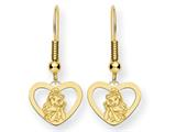 Disney Belle Heart Dangle Wire Earrings style: WD245GP