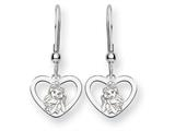 Disney Belle Heart Dangle Wire Earrings style: WD245SS