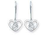 Disney Belle Heart Dangle Wire Earrings style: WD245W