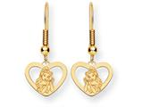 Disney Belle Heart Dangle Wire Earrings style: WD245Y