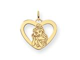 Disney Belle Heart Charm style: WD246GP