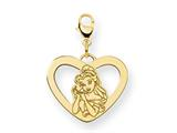 Disney Belle Heart Lobster Clasp Charm style: WD247GP