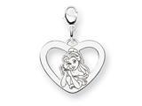 Disney Belle Heart Lobster Clasp Charm style: WD247W