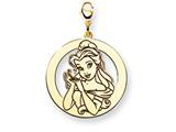 Disney Belle Round Lobster Clasp Charm style: WD249GP