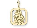 Disney Belle Square Lobster Clasp Charm style: WD251GP