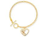 Disney 7.5inch Tinker Bell Heart Charm Bracelet