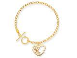 Disney 7.5inch Tinker Bell Heart Charm Bracelet style: WD252Y