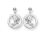Disney Tinker Bell Round Dangle Post Earri