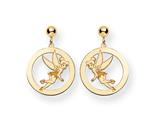 Disney Tinker Bell Round Dangle Post Earrings style: WD259Y
